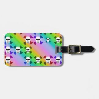 Rainbow Skulls Luggage Tags