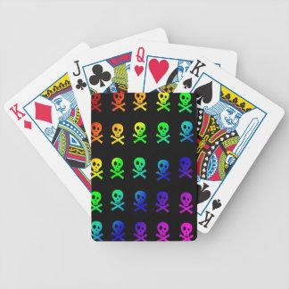 Rainbow Skulls Playing Cards