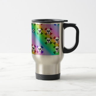Rainbow Skulls Stainless Steel Travel Mug