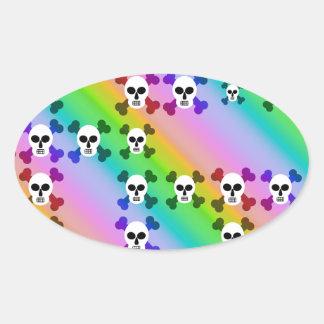 Rainbow Skulls Stickers