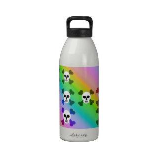 Rainbow Skulls Drinking Bottle