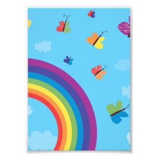 Rainbow Sky Butterflies Art Photo