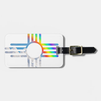 Rainbow sky Zia sun symbol Luggage Tag