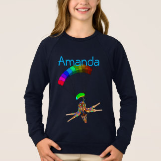 Rainbow Skydiving by The Happy Juul Company Sweatshirt