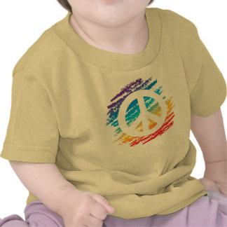 Rainbow Slash Peace Shirt