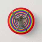 Rainbow Sloth 3 Cm Round Badge