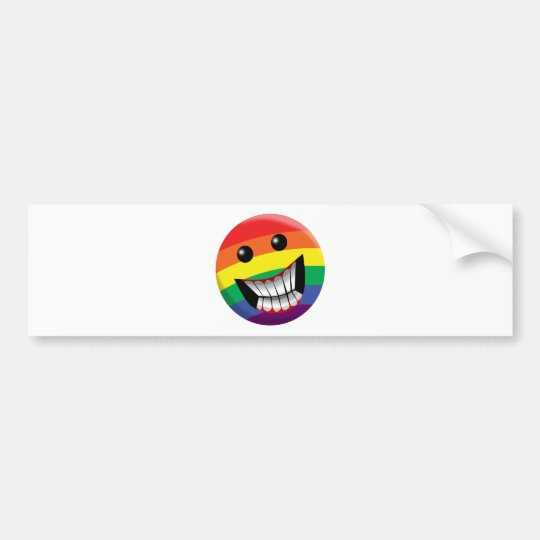 Rainbow Smile Bumper Sticker