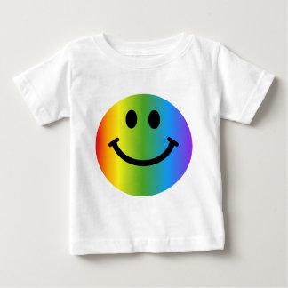 Rainbow Smiley Baby T-Shirt