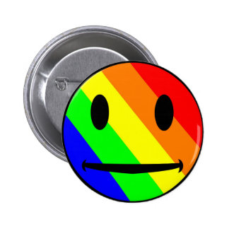 Rainbow Smiley Button