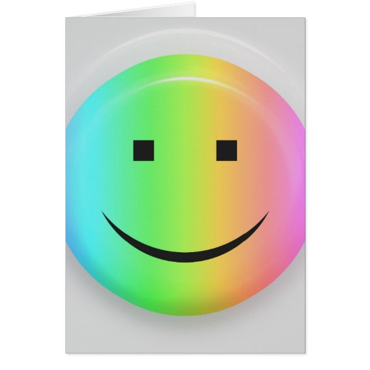 Rainbow smiley card