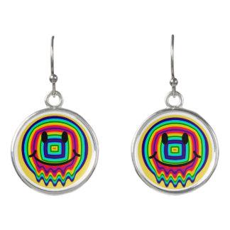 rainbow smiley face earrings