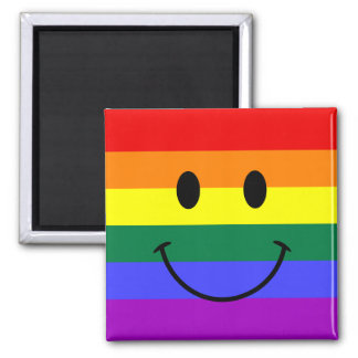 Rainbow Smiley Face Magnet