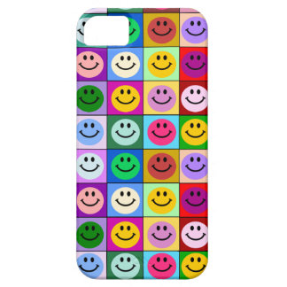 Rainbow smiley face squares iPhone 5 covers