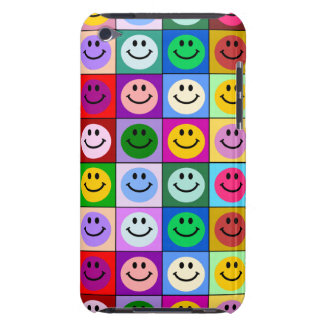 Rainbow smiley face squares iPod touch cover