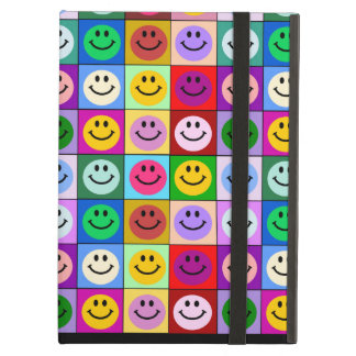 Rainbow smiley face squares cover for iPad air