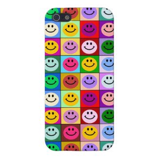 Rainbow smiley face squares iPhone 5/5S cover
