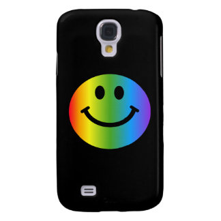 Rainbow Smiley happy face Galaxy S4 Case