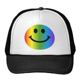 Rainbow Smiley Trucker Hat