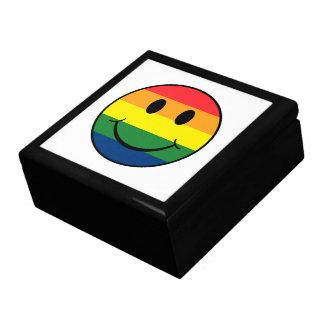 Rainbow Smiley Large Square Gift Box