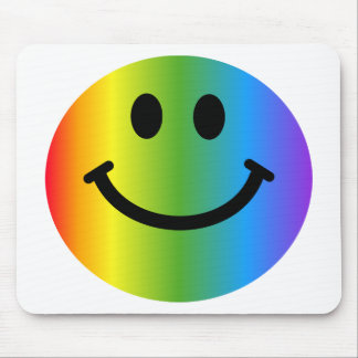Rainbow Smiley Mouse Mat