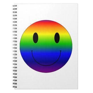 Rainbow Smiley Notebook