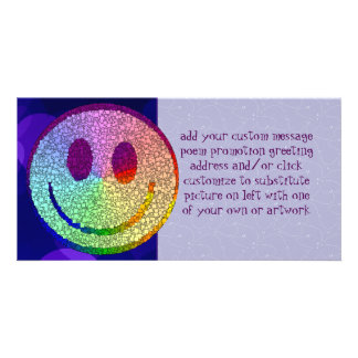 Rainbow Smiley Personalised Photo Card