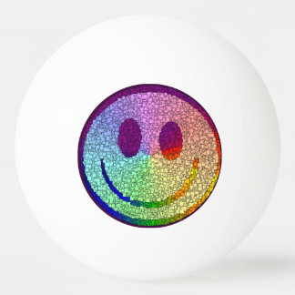 Rainbow Smiley Ping Pong Ball