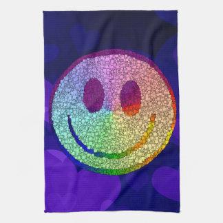 Rainbow Smiley Tea Towel