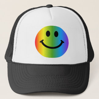 Rainbow Smiley Trucker Hat