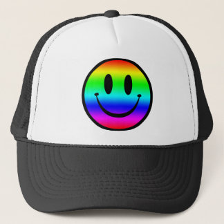 Rainbow Smiley V1 Trucker Hat