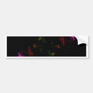 rainbow smoke bumper sticker