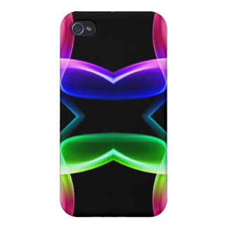 Rainbow smoke butterfly case for iPhone 4