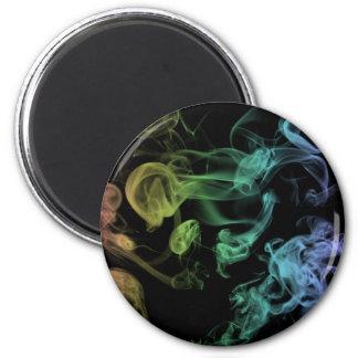 Rainbow Smoke Fridge Magnet