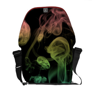 Rainbow Smoke Messenger Bag