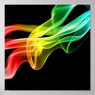 rainbow smoke poster