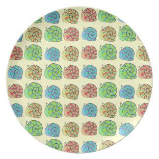 Rainbow Snails Plate