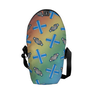 rainbow snowboard pattern courier bag