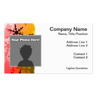 Rainbow Snowflake Pack Of Standard Business Cards