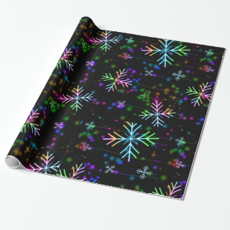 Rainbow Snowflake Wrapping paper