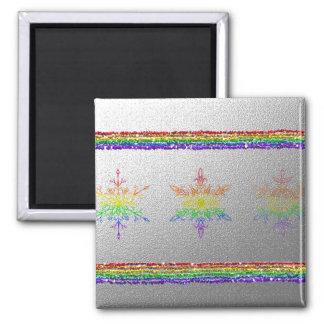 Rainbow Snowflakes Magnet