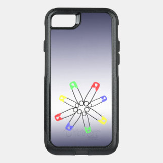 Rainbow Solidarity Safety Pin Red Blue OtterBox Commuter iPhone 8/7 Case