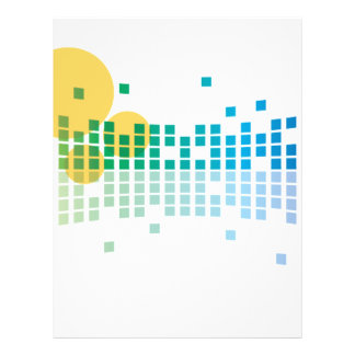 rainbow sound waves II abstract 21.5 Cm X 28 Cm Flyer