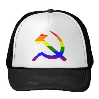 Rainbow Soviet Hammer And Sickle Hats