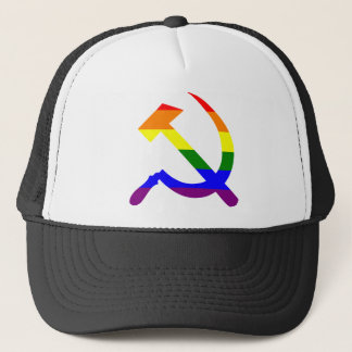 Rainbow Soviet Hammer And Sickle Trucker Hat