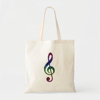 Rainbow Sparkle Treble Clef Art