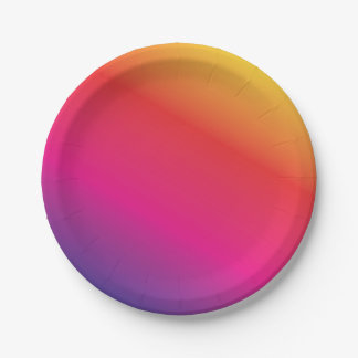 Rainbow Spectrum Colorful Paper Plate