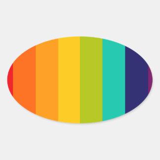 Rainbow Spectrum Oval Sticker