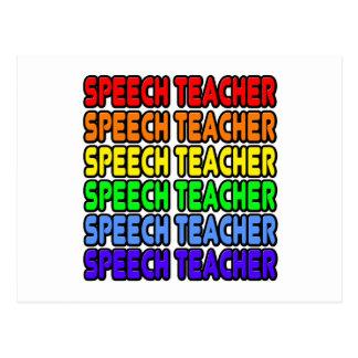 Rainbow Speech Teacher Postcard