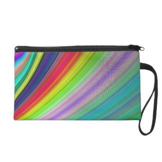Rainbow speed wristlet purse