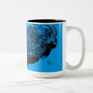 Rainbow Spider Web Mug collection - blue